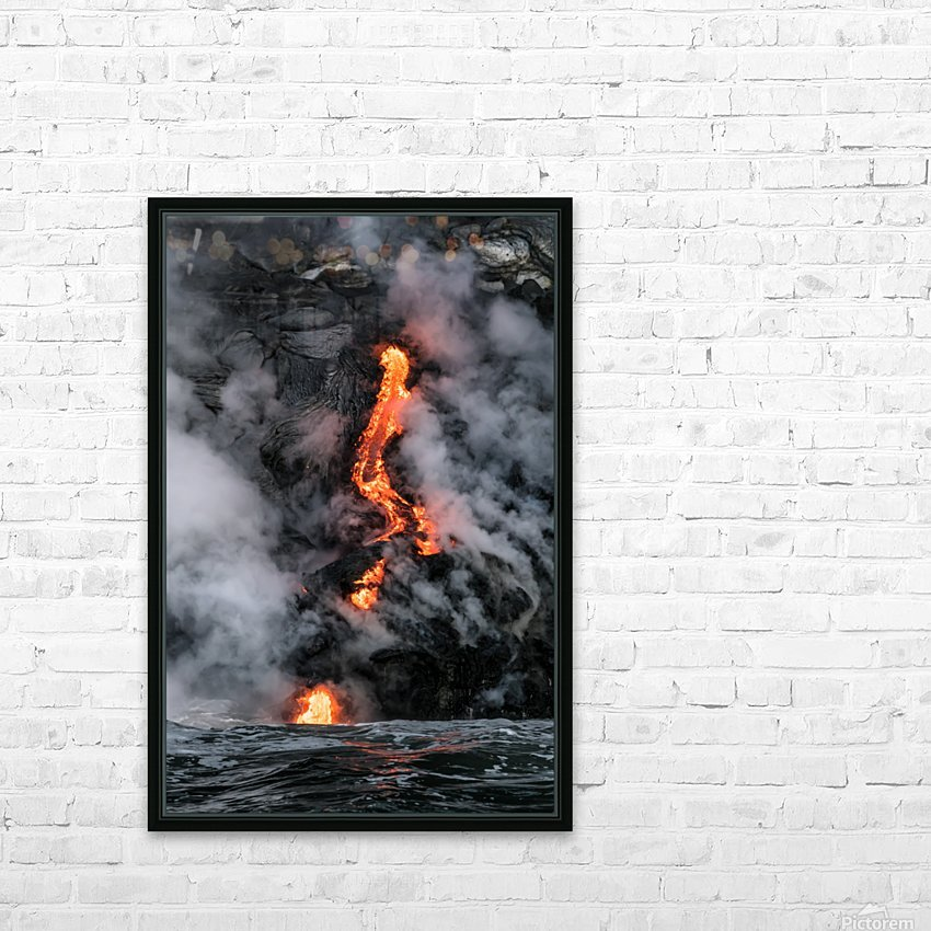 Simple lava shot HD Sublimation Metal print with Decorating Float Frame (BOX)
