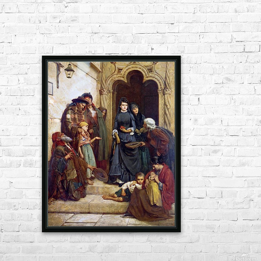 The church door 1889 HD Sublimation Metal print with Decorating Float Frame (BOX)