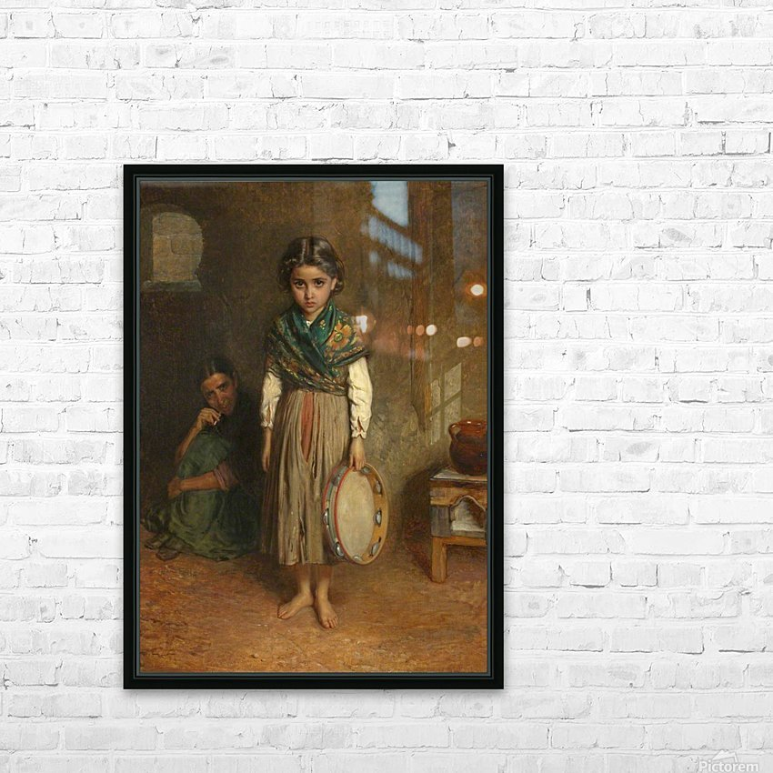 A Little Spanish Gipsy HD Sublimation Metal print with Decorating Float Frame (BOX)