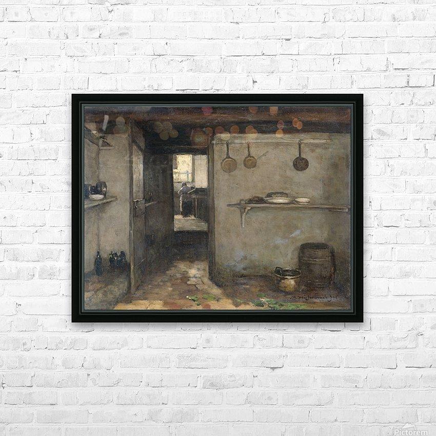 Doorkijkje in het onderhuis van Weissenbruch's woning in Den Haag HD Sublimation Metal print with Decorating Float Frame (BOX)