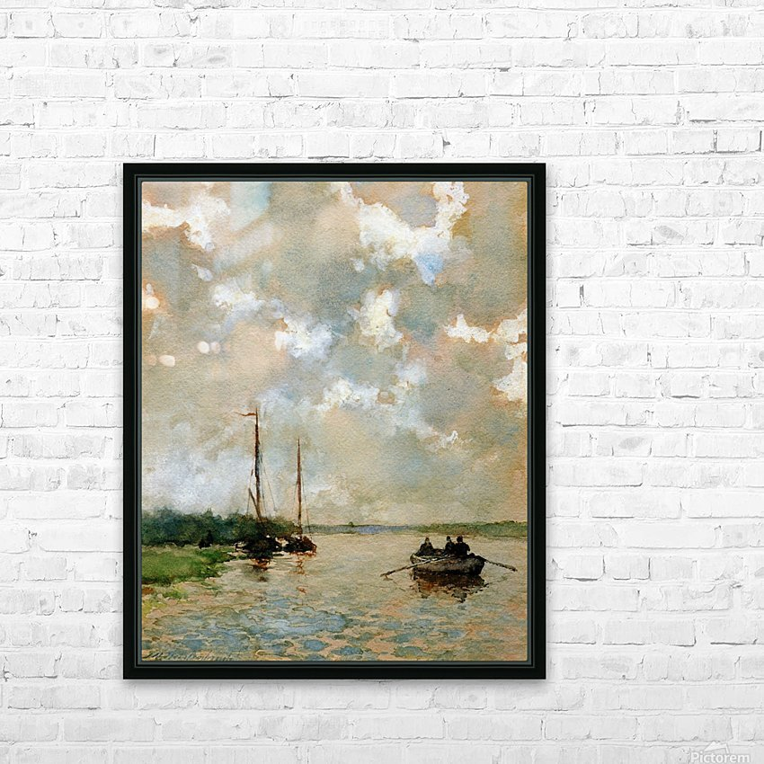 Rowing on the river Sun HD Sublimation Metal print with Decorating Float Frame (BOX)