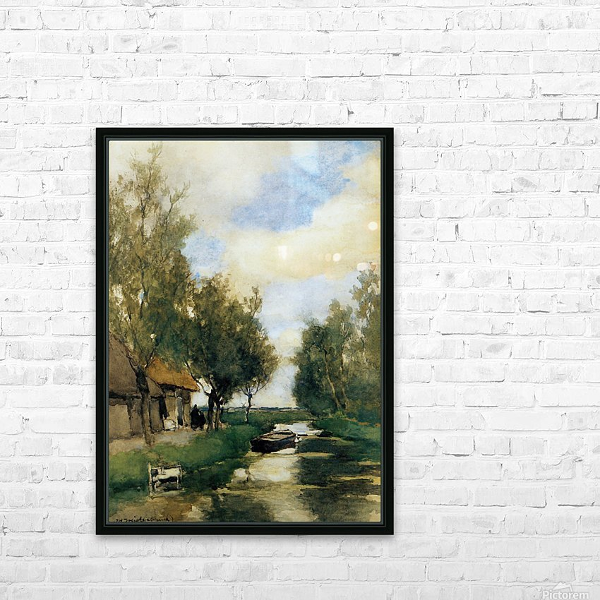 Farm on polder canal HD Sublimation Metal print with Decorating Float Frame (BOX)