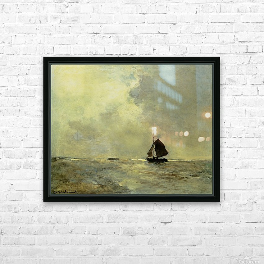 Sailing boat in choppy seas HD Sublimation Metal print with Decorating Float Frame (BOX)