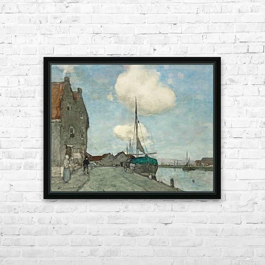 A Waterway near Haarlem HD Sublimation Metal print with Decorating Float Frame (BOX)