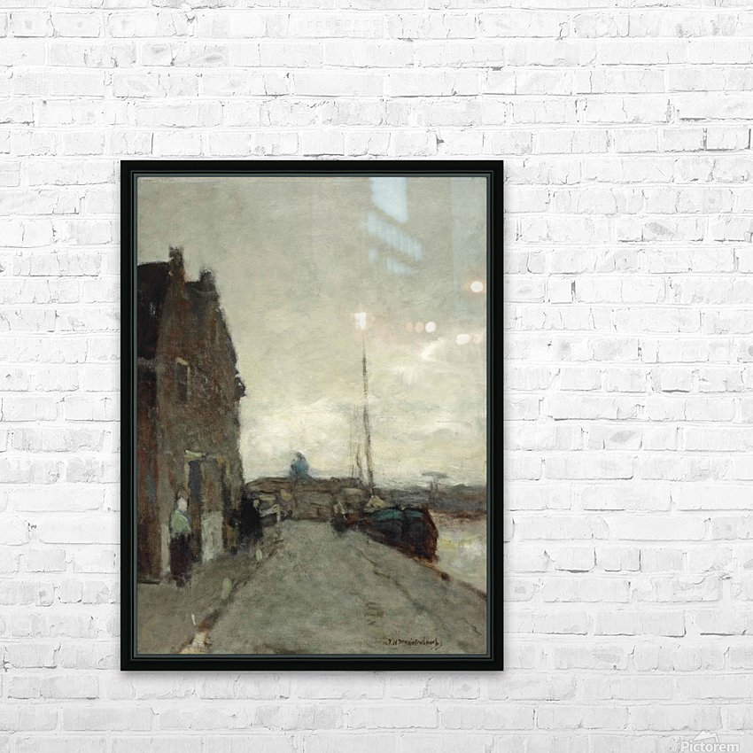 A View on Het Spaarne, Haarlem HD Sublimation Metal print with Decorating Float Frame (BOX)