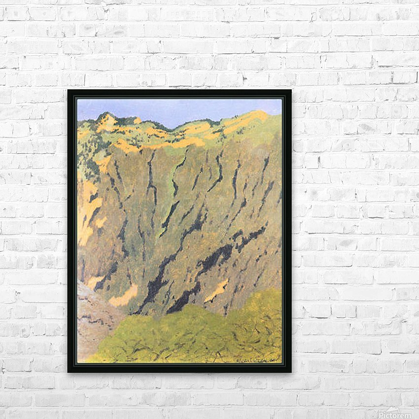 Cliffs by Felix Vallotton HD Sublimation Metal print with Decorating Float Frame (BOX)
