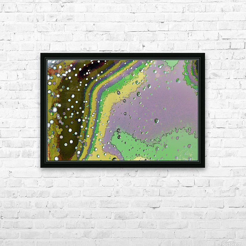 Raindrops 4   HD Sublimation Metal print with Decorating Float Frame (BOX)