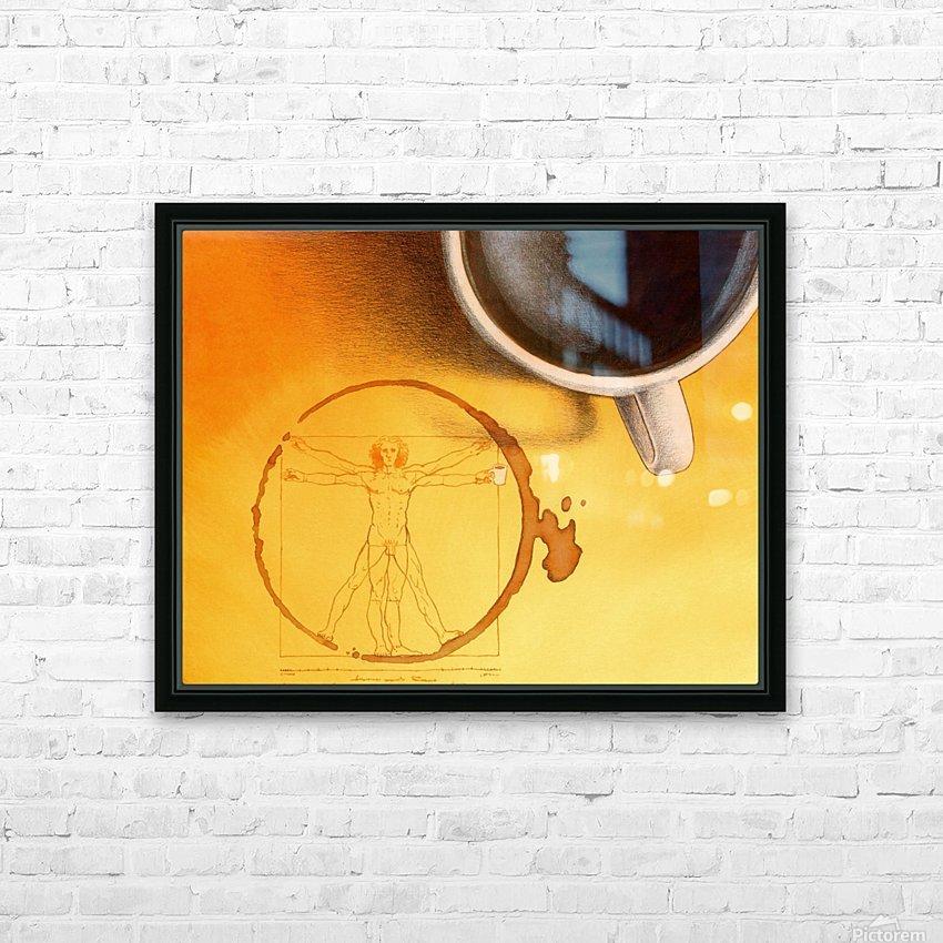 coffee man HD sublimation métal imprimé avec décoration flotteur cadre (boîte)