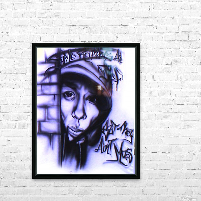 mos def HD Sublimation Metal print with Decorating Float Frame (BOX)