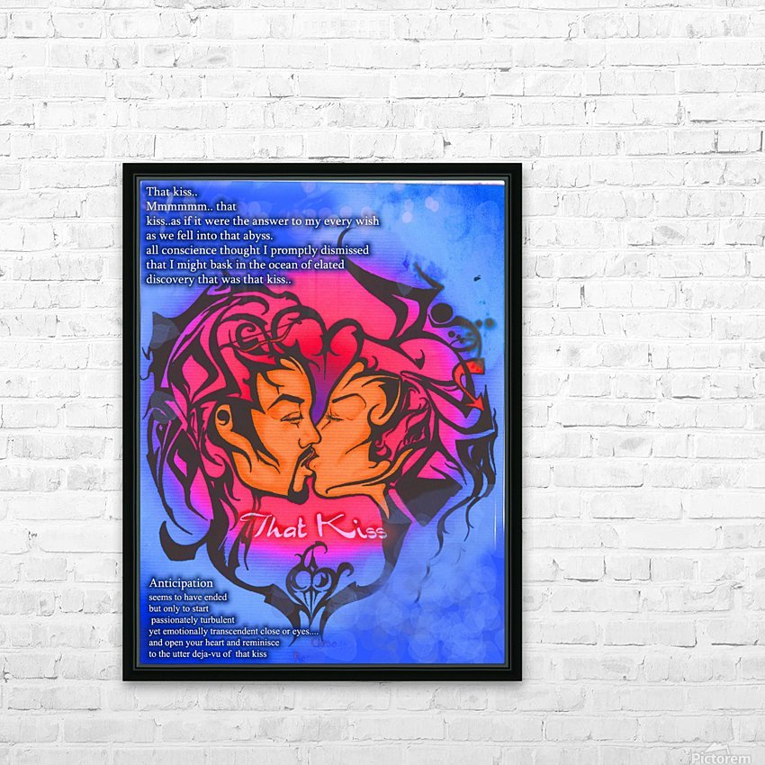 that kiss HD Sublimation Metal print with Decorating Float Frame (BOX)