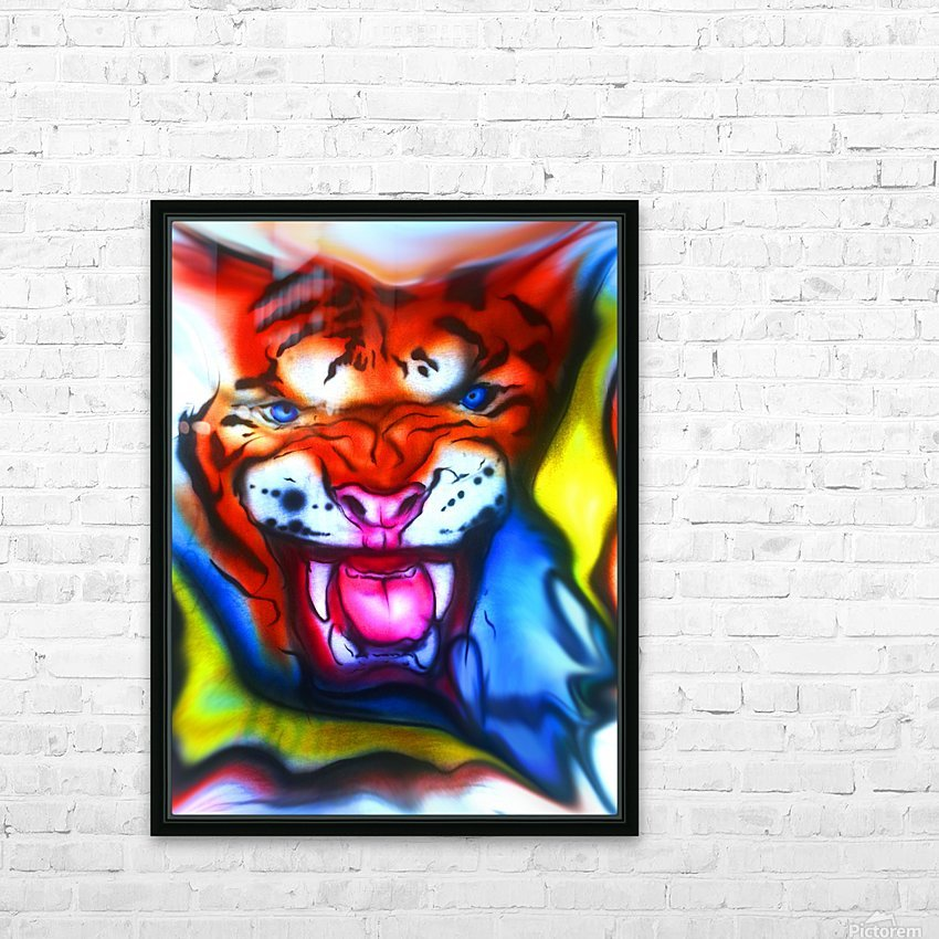 tiger1 HD Sublimation Metal print with Decorating Float Frame (BOX)