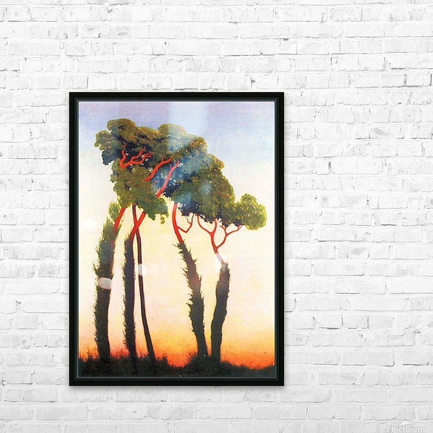 Five Trees by Felix Vallotton HD Sublimation Metal print with Decorating Float Frame (BOX)