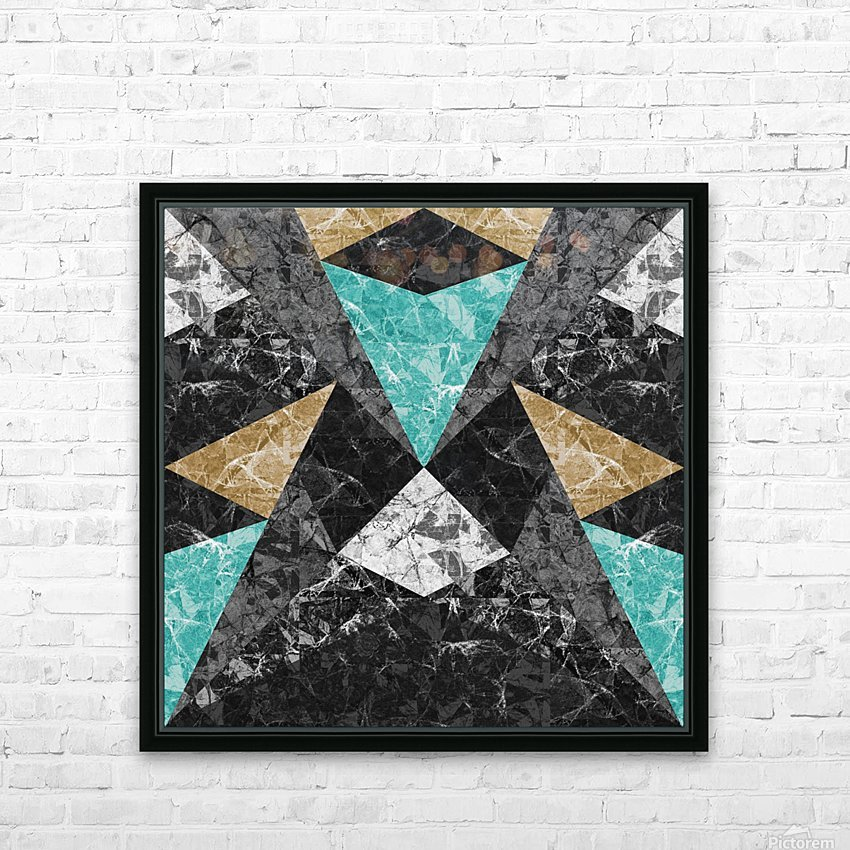 Marble Geometric Background G430 HD Sublimation Metal print with Decorating Float Frame (BOX)
