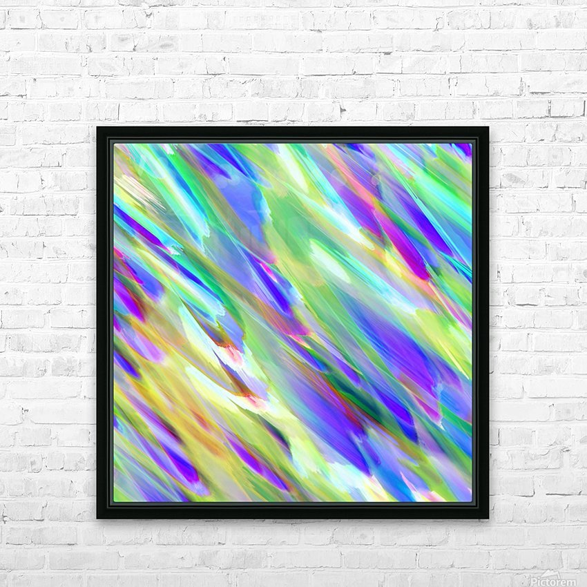 Colorful digital art splashing G401 HD Sublimation Metal print with Decorating Float Frame (BOX)