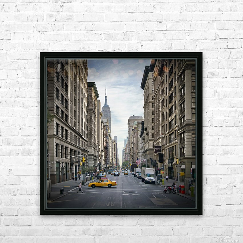NEW YORK CITY 5th Avenue   HD Sublimation Metal print with Decorating Float Frame (BOX)