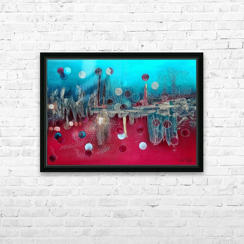 I feel the mood... HD Sublimation Metal print with Decorating Float Frame (BOX)