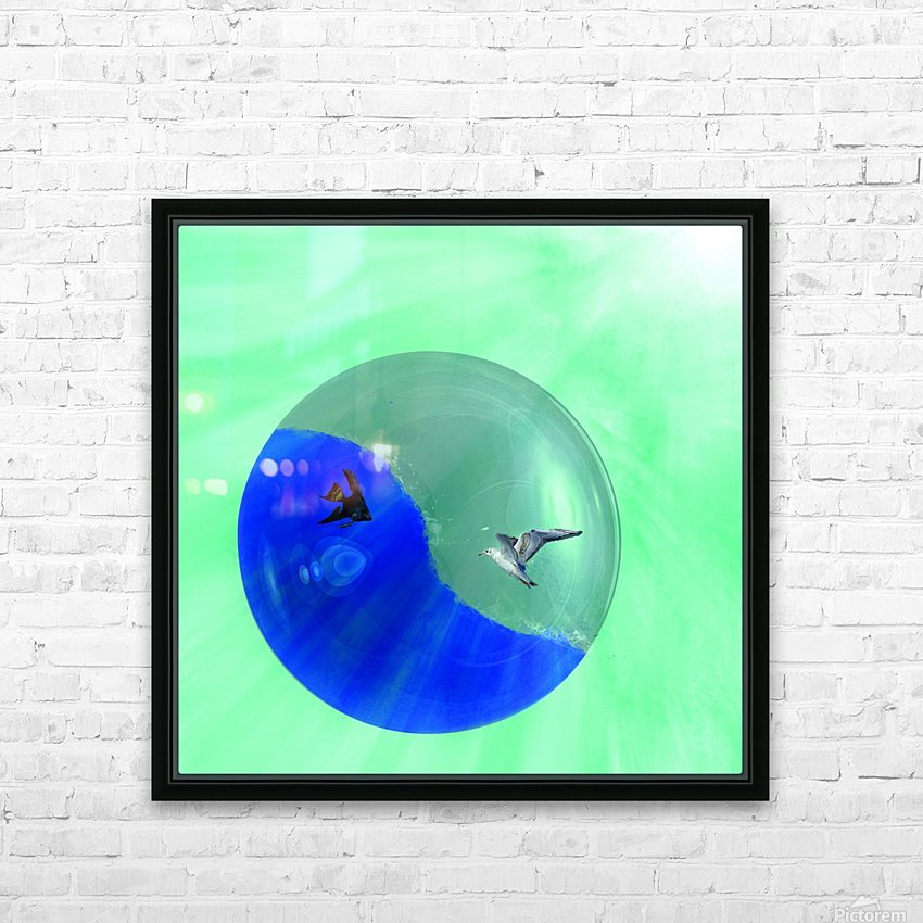 Yin and yang HD Sublimation Metal print with Decorating Float Frame (BOX)