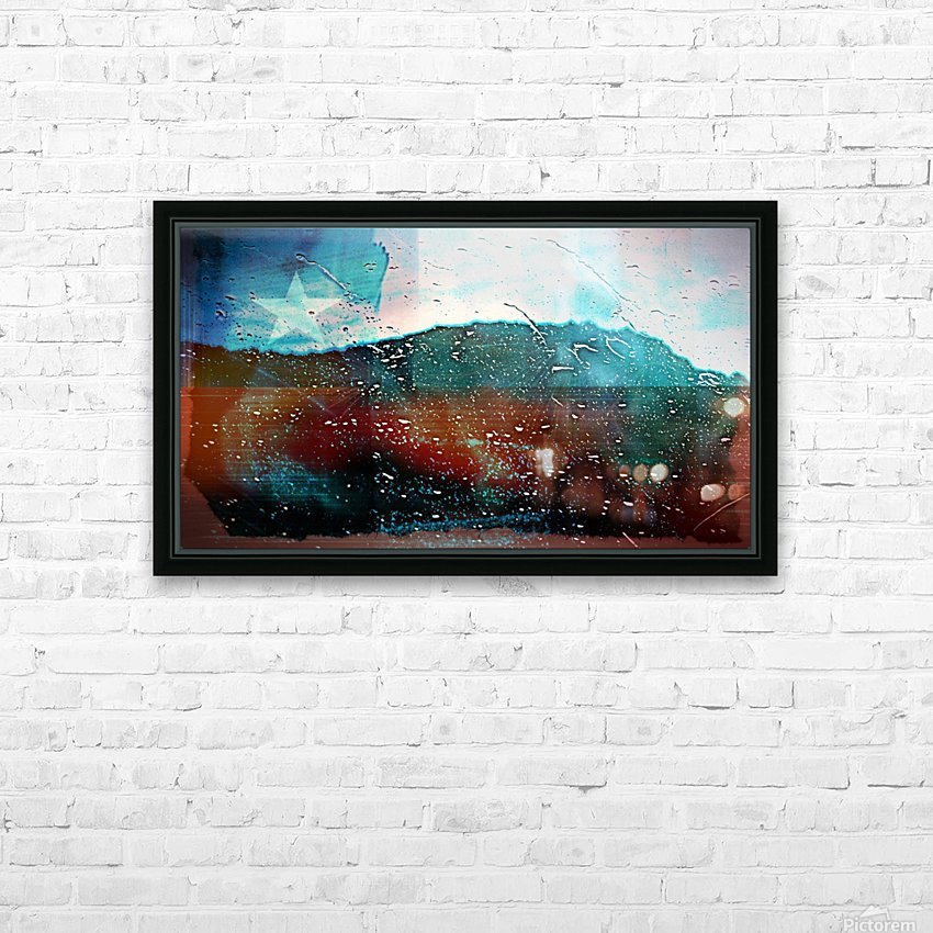 rainwindowflag HD Sublimation Metal print with Decorating Float Frame (BOX)