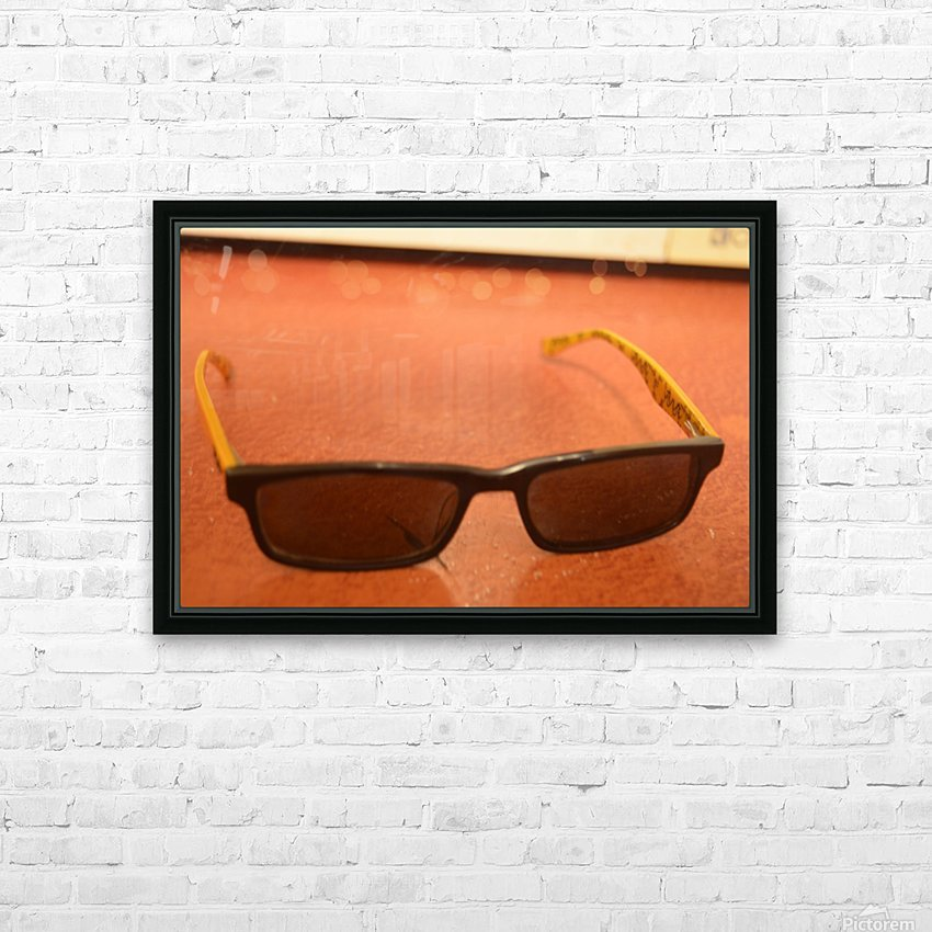Sun glasses HD Sublimation Metal print with Decorating Float Frame (BOX)