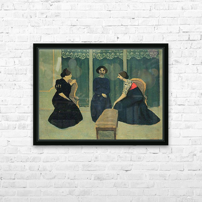 Gossip by Felix Vallotton HD Sublimation Metal print with Decorating Float Frame (BOX)