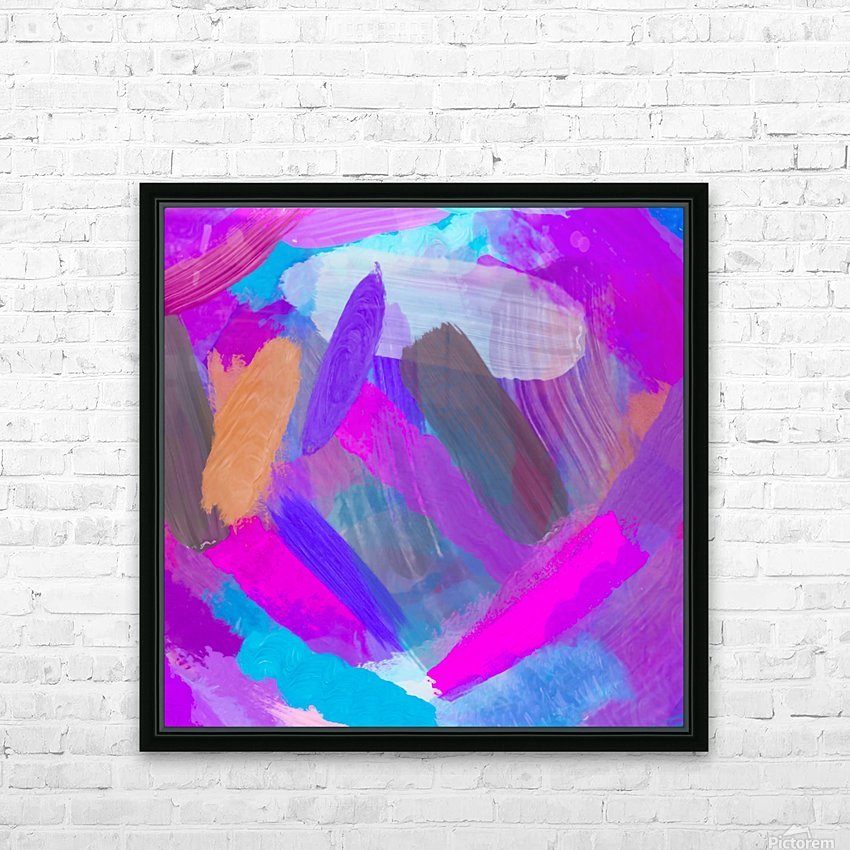 pink brown purple blue painting abstract background HD Sublimation Metal print with Decorating Float Frame (BOX)