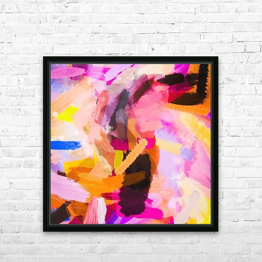 pink purple yellow brown painting texture abstract background HD Sublimation Metal print with Decorating Float Frame (BOX)