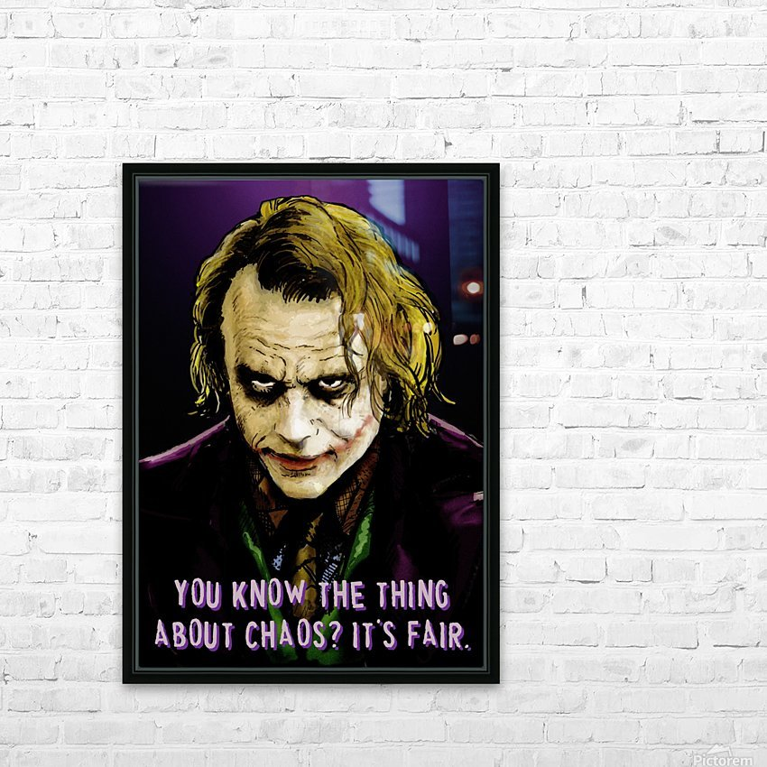 The Joker Says HD Sublimation Metal print with Decorating Float Frame (BOX)