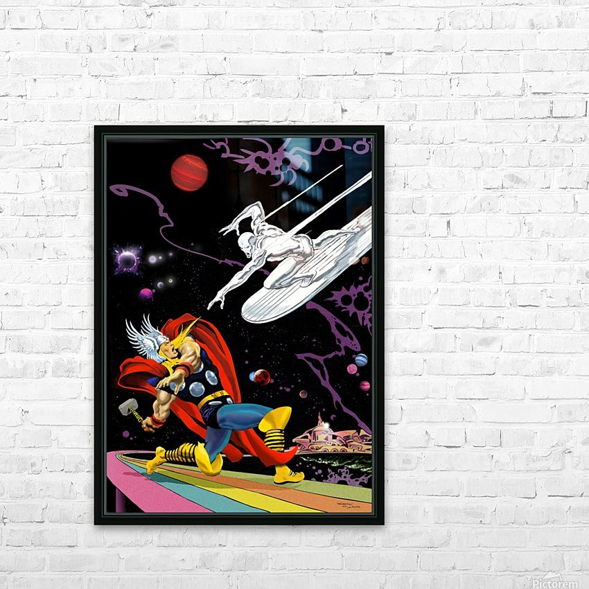 Marvel: Thor vs The Silver Surfer HD Sublimation Metal print with Decorating Float Frame (BOX)