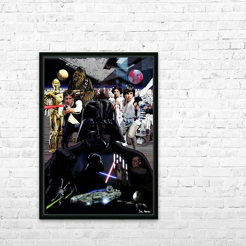 Star Wars  HD Sublimation Metal print with Decorating Float Frame (BOX)