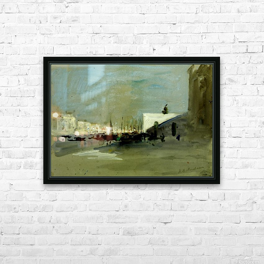 Harbour scene in Venice HD Sublimation Metal print with Decorating Float Frame (BOX)