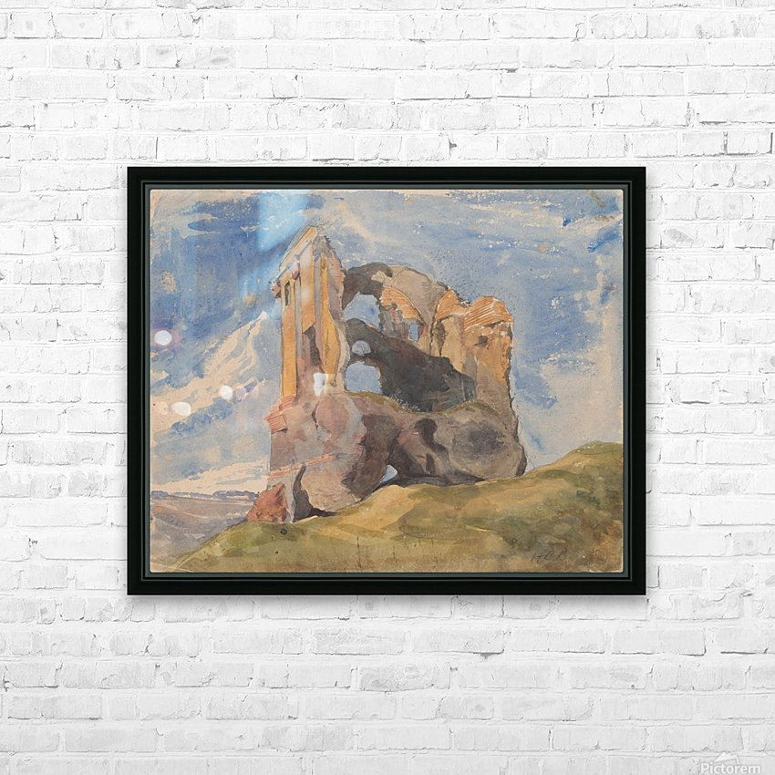 Tomb in Campagna HD Sublimation Metal print with Decorating Float Frame (BOX)