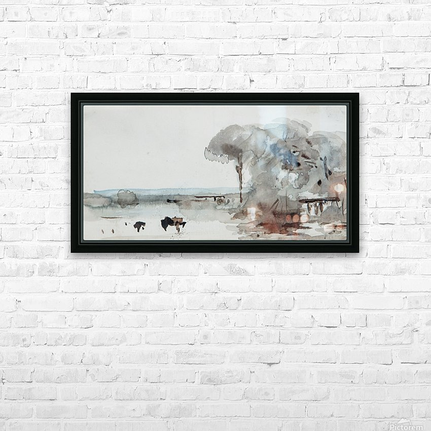 Cattle in a meadow HD Sublimation Metal print with Decorating Float Frame (BOX)