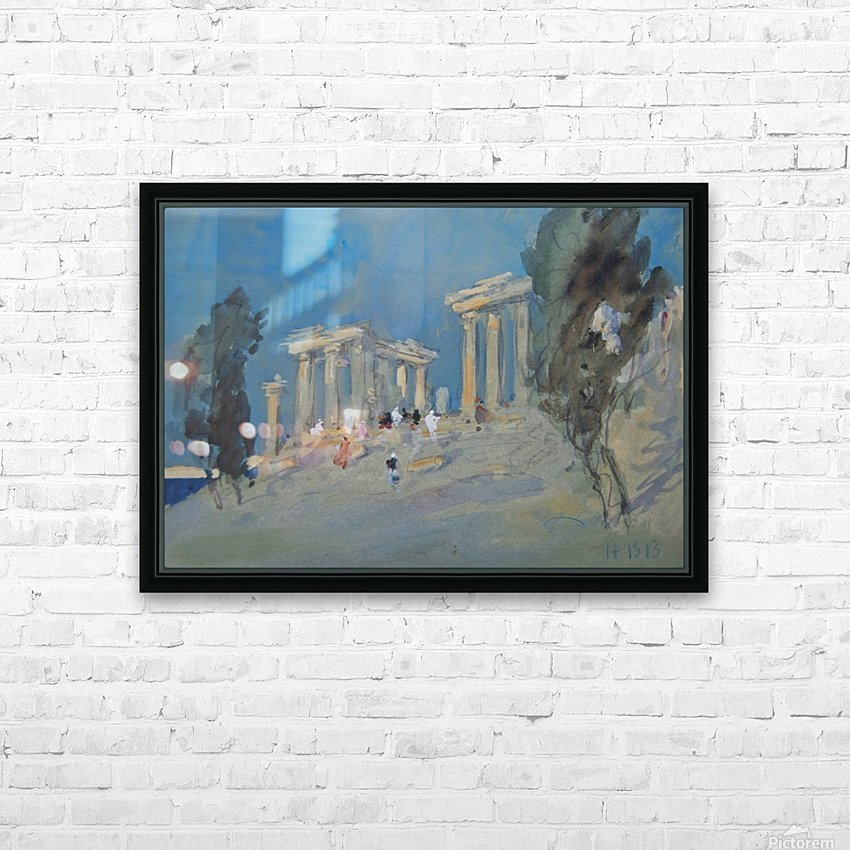 Paestum, Italy HD Sublimation Metal print with Decorating Float Frame (BOX)