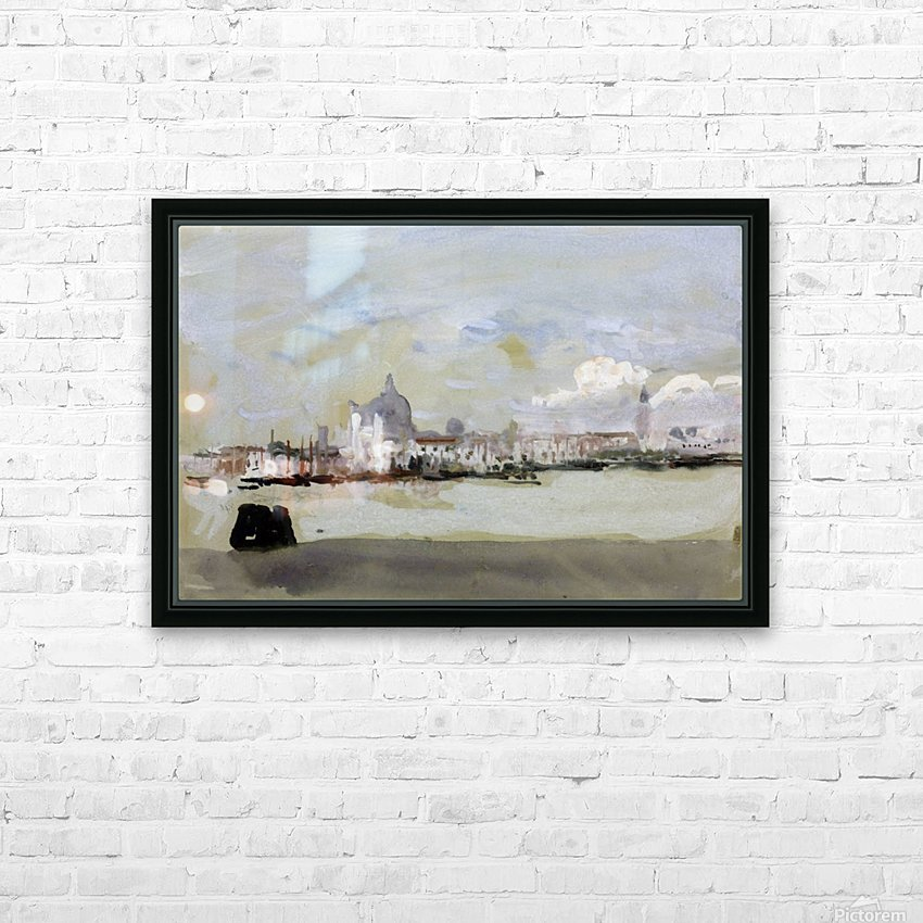 A grey day in Venice HD Sublimation Metal print with Decorating Float Frame (BOX)