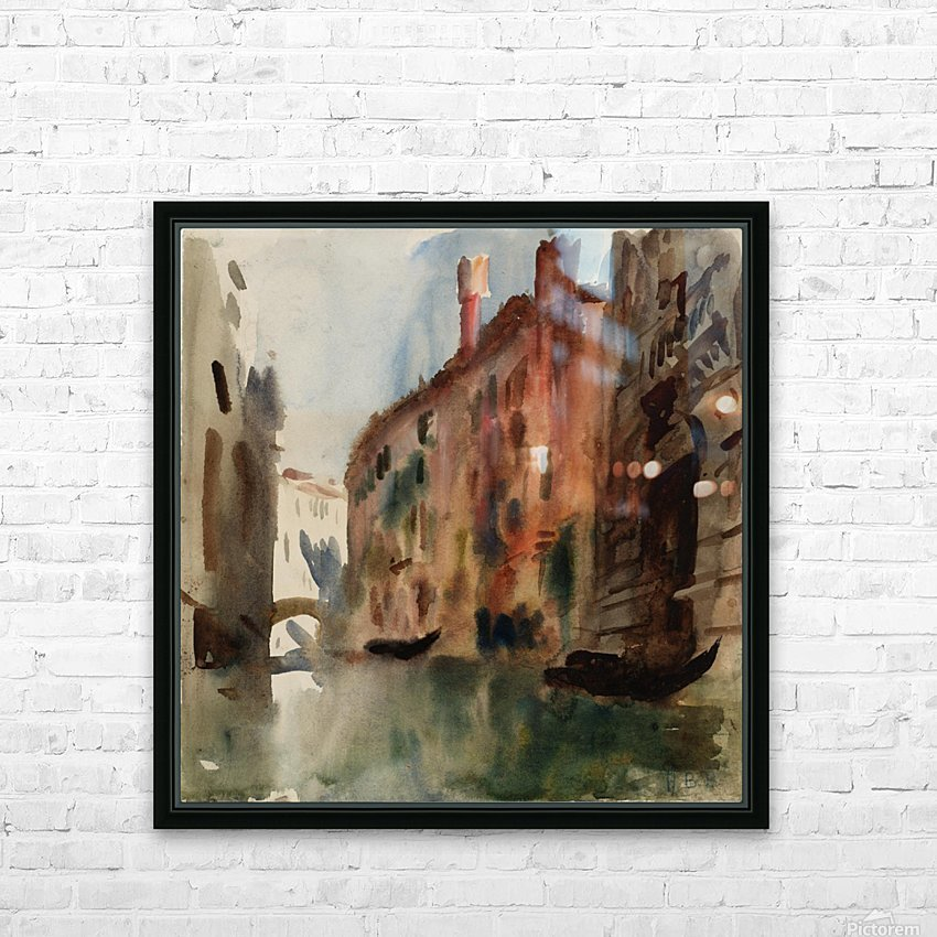 Side Canal, Venice HD Sublimation Metal print with Decorating Float Frame (BOX)