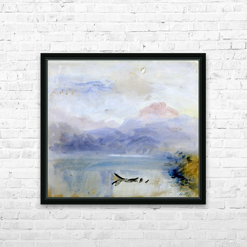 Lake scene HD Sublimation Metal print with Decorating Float Frame (BOX)