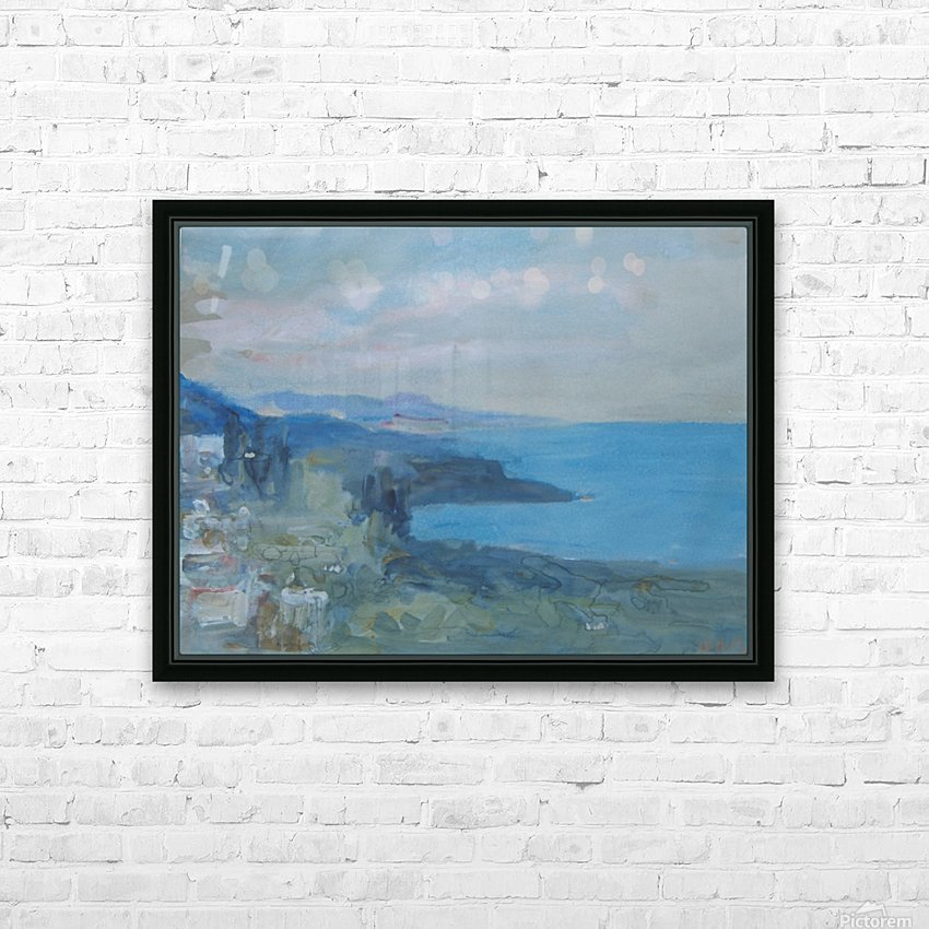 On the Riviera, France HD Sublimation Metal print with Decorating Float Frame (BOX)