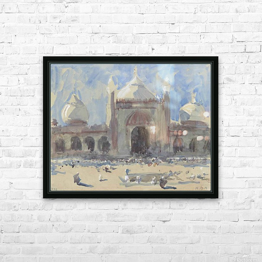 Entrance to the Jama Masjid, Delhi HD Sublimation Metal print with Decorating Float Frame (BOX)