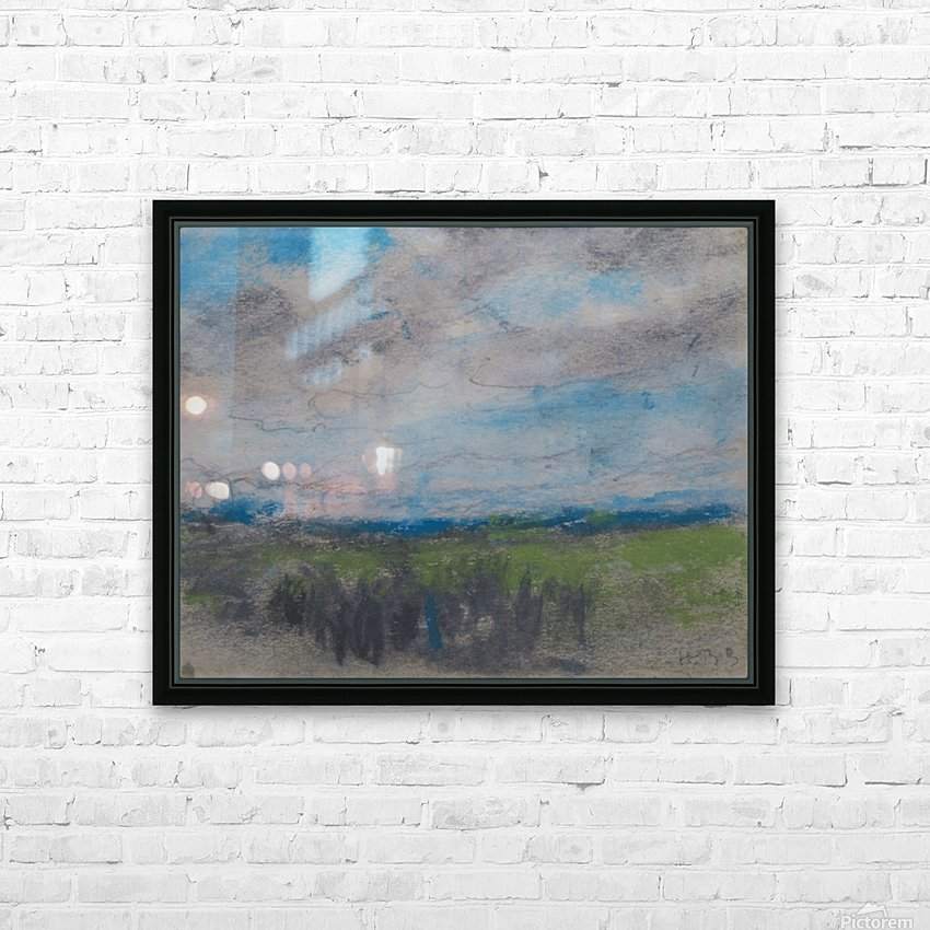 High windy sky over small copse HD Sublimation Metal print with Decorating Float Frame (BOX)