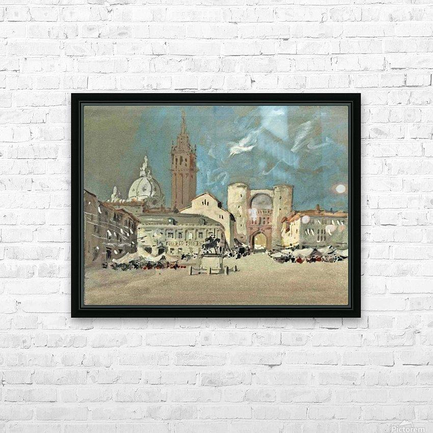 Piazza dei Signori, Padua HD Sublimation Metal print with Decorating Float Frame (BOX)