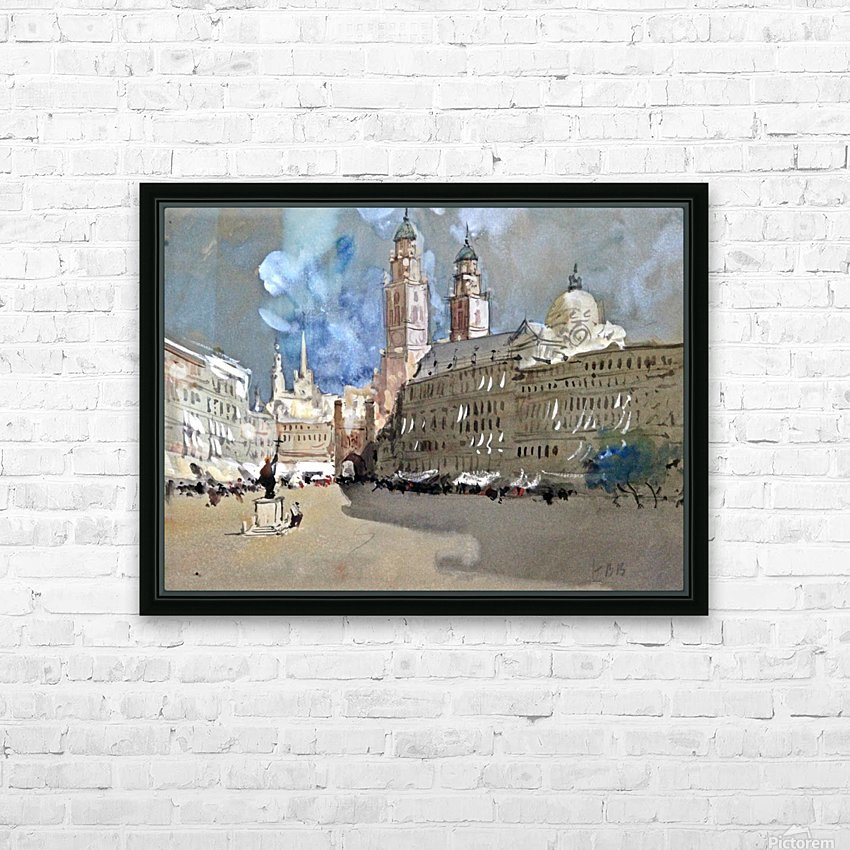 Great view of a large castle near market HD Sublimation Metal print with Decorating Float Frame (BOX)
