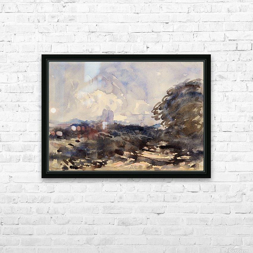 View of a landscape with castle in the back HD Sublimation Metal print with Decorating Float Frame (BOX)