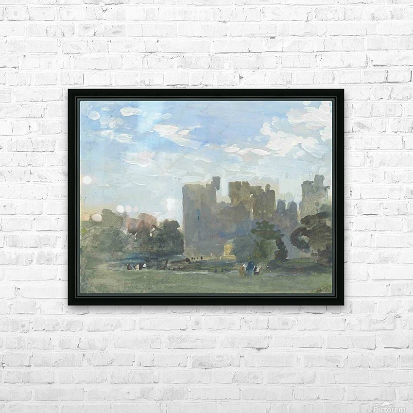 A moated castle HD Sublimation Metal print with Decorating Float Frame (BOX)
