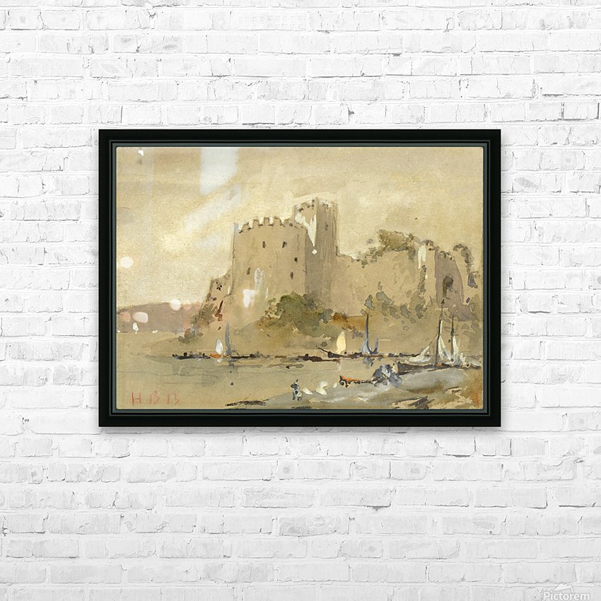 Chepstow Castle HD Sublimation Metal print with Decorating Float Frame (BOX)