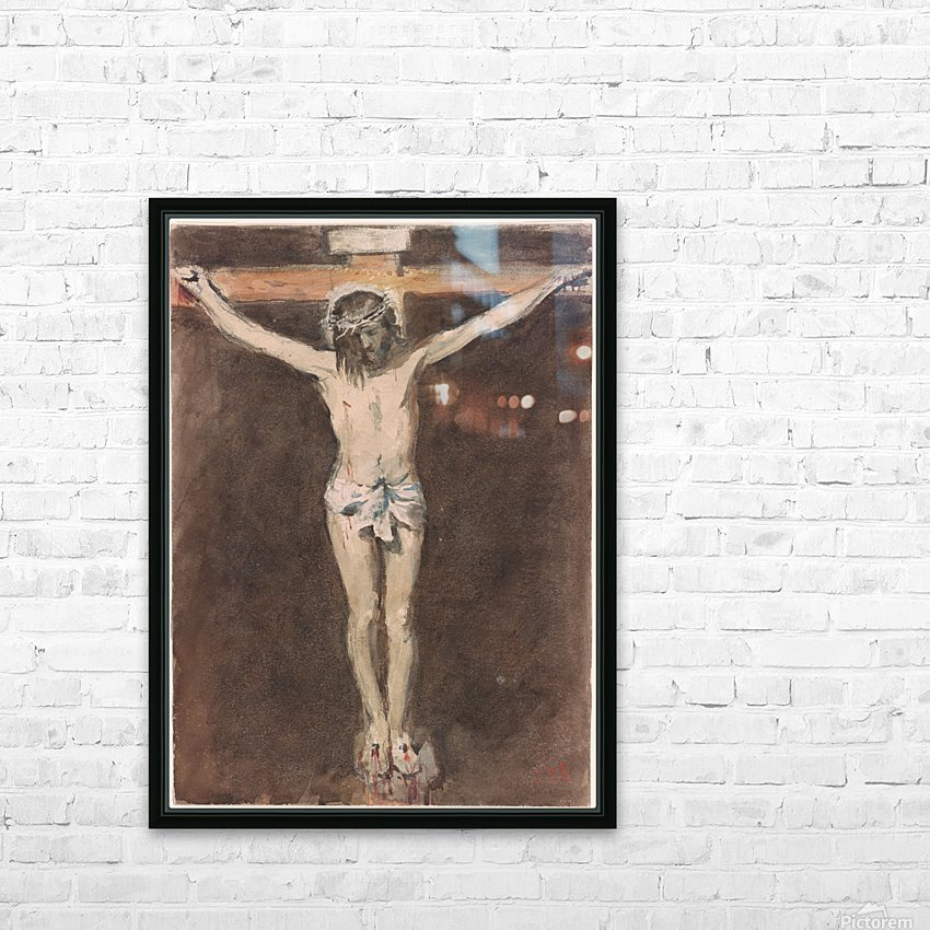 Christ on the Cross HD Sublimation Metal print with Decorating Float Frame (BOX)