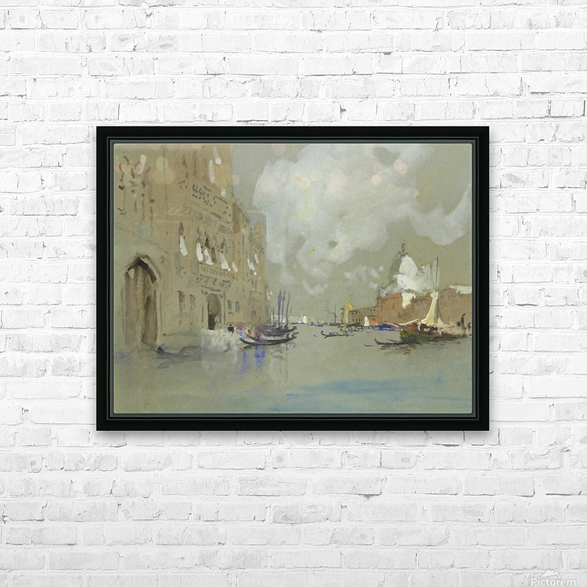 View of Venice along a canal HD Sublimation Metal print with Decorating Float Frame (BOX)