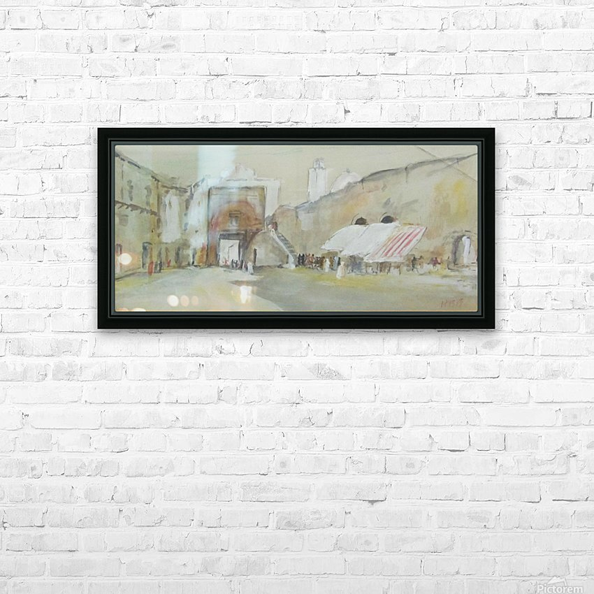 Tunisian street scene HD Sublimation Metal print with Decorating Float Frame (BOX)