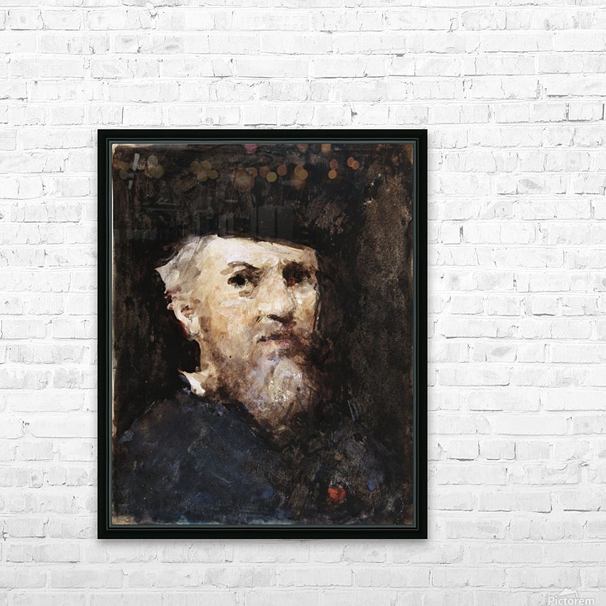A souvenir of a self-portrait by Jean-Jacques Henner HD Sublimation Metal print with Decorating Float Frame (BOX)