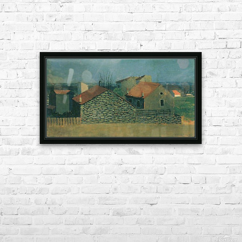 Houses in Puteaux by Felix Vallotton HD Sublimation Metal print with Decorating Float Frame (BOX)
