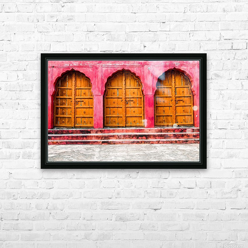 Doors of the Pink City  HD Sublimation Metal print with Decorating Float Frame (BOX)
